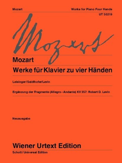 Wolfgang Amadeus Mozart: Works for piano 4 hands