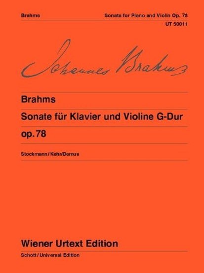 Johannes Brahms: Sonata - G major for violin and piano op. 78