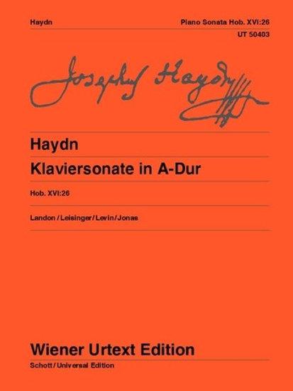 Joseph Haydn: Piano Sonata - A major for piano Hob. XVI:26