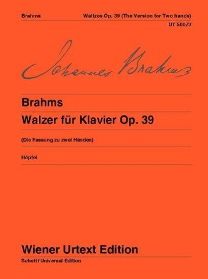 Johannes Brahms: Waltzes for piano op. 39