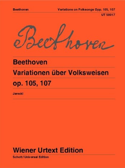 Ludwig van Beethoven: Variations on Folk Song for piano and flute ad libitum op