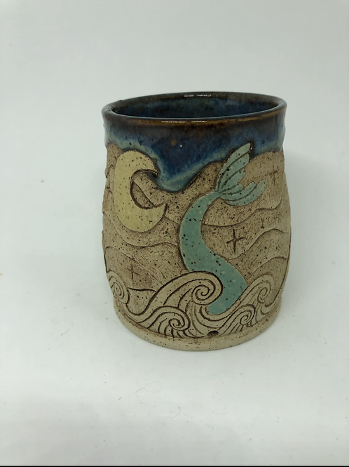 Mermaid Tail an Sailboat Planter with Drainage
