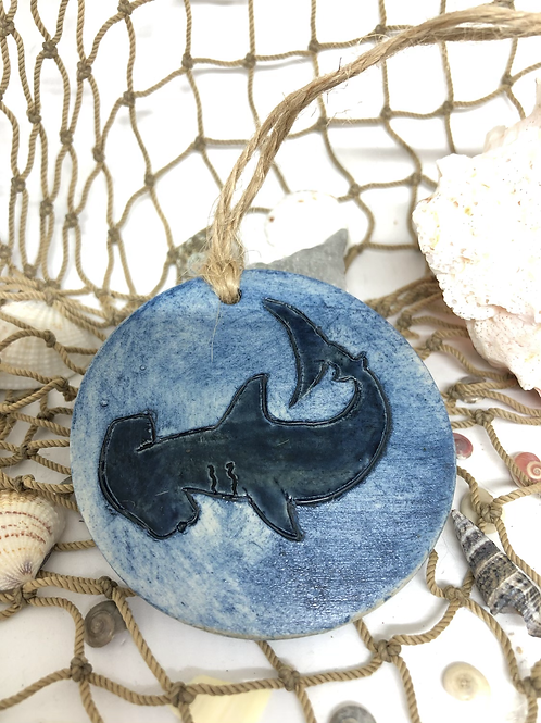 Hammerhead shark hangin ornament