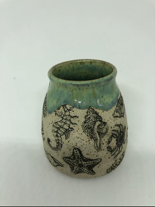 Sea Life Bud Vase