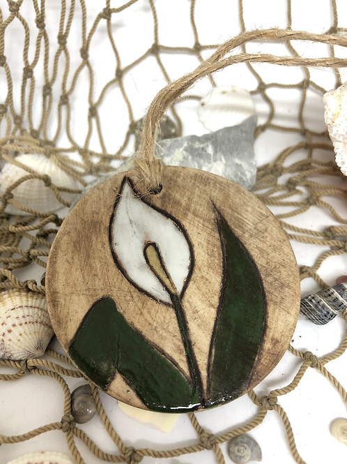 Peace Lily ornament