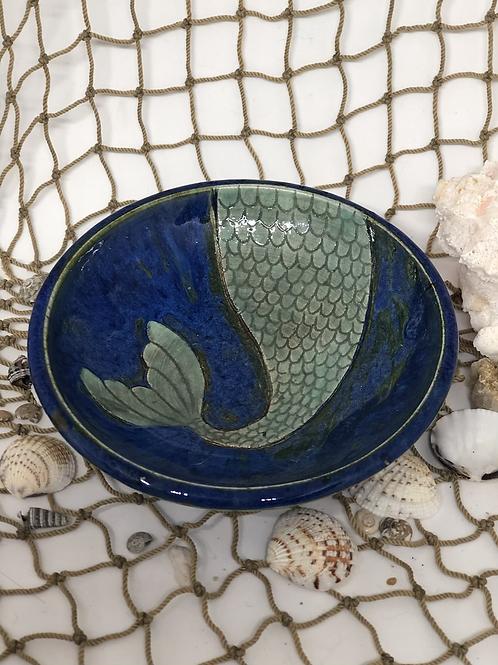 Mermaid tail trinket dish