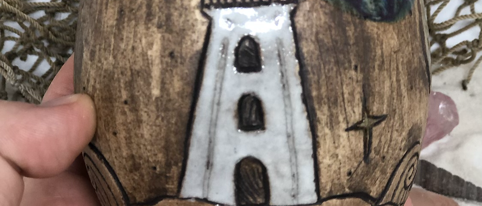 Lighthouse and Mermaid Tail Cup - No Handle