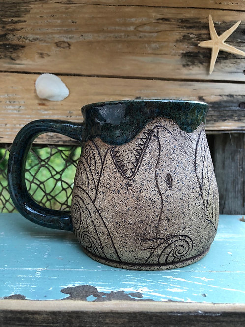 Speckled Turquoise Shark Mug