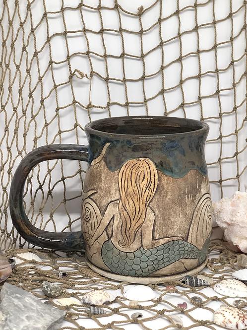 Large Mermaid and sun mug
