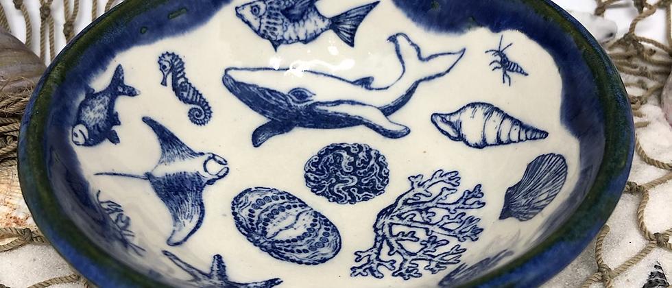 Blue Sea Creature Trinket Dish