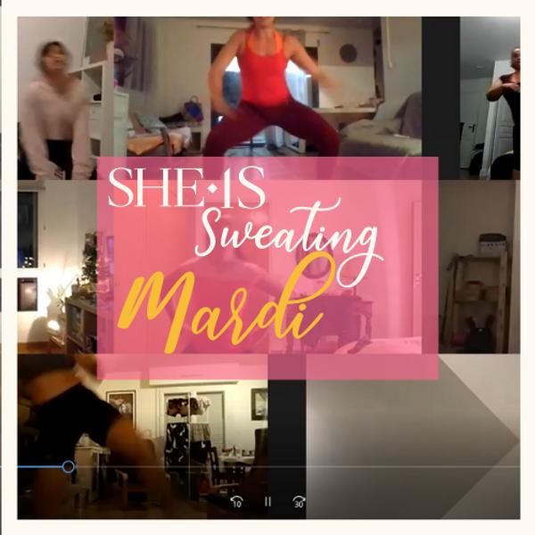 SHE IS SWEATING - MARDI 18/05