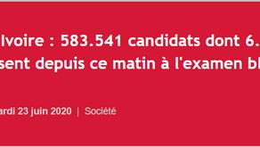 Flash Infos : 583.541 candidats dont 6.604 candidats libres composent depuis ce matin à l'examen b