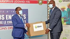 Lutte contre la Covid-19   Remise de don important du Groupe Olam Côte d'Ivoire et de la Fondation T
