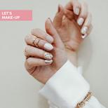 ozdobny manicure z marmurkiem
