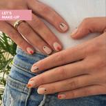 manicure w geometryczne wzory
