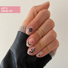 manicure we wzorki
