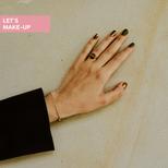 matowy manicure ze złoceniem