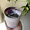 aerial view of full moon candle in white rose gold jar