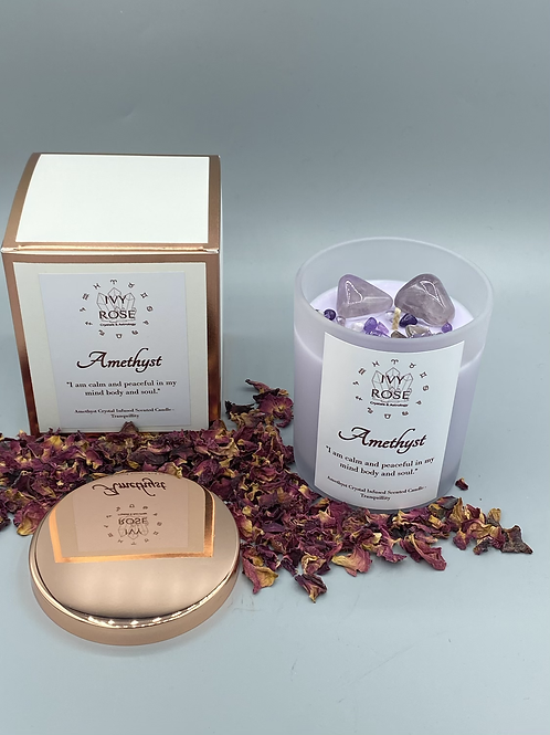 The Candle of Serenity- Amethyst