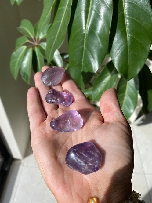 Lavender amethyst tumbled stone
