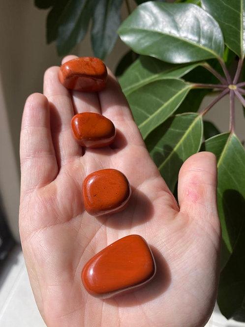 Red jasper tumbled stones