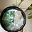 Libra crystal candle with crysoprase, green aventurine and rose quartz  aerial shot