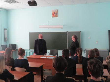 Учащиеся старших классов гимназии встретились с профессором ВГУ А.Ю. Минаковым