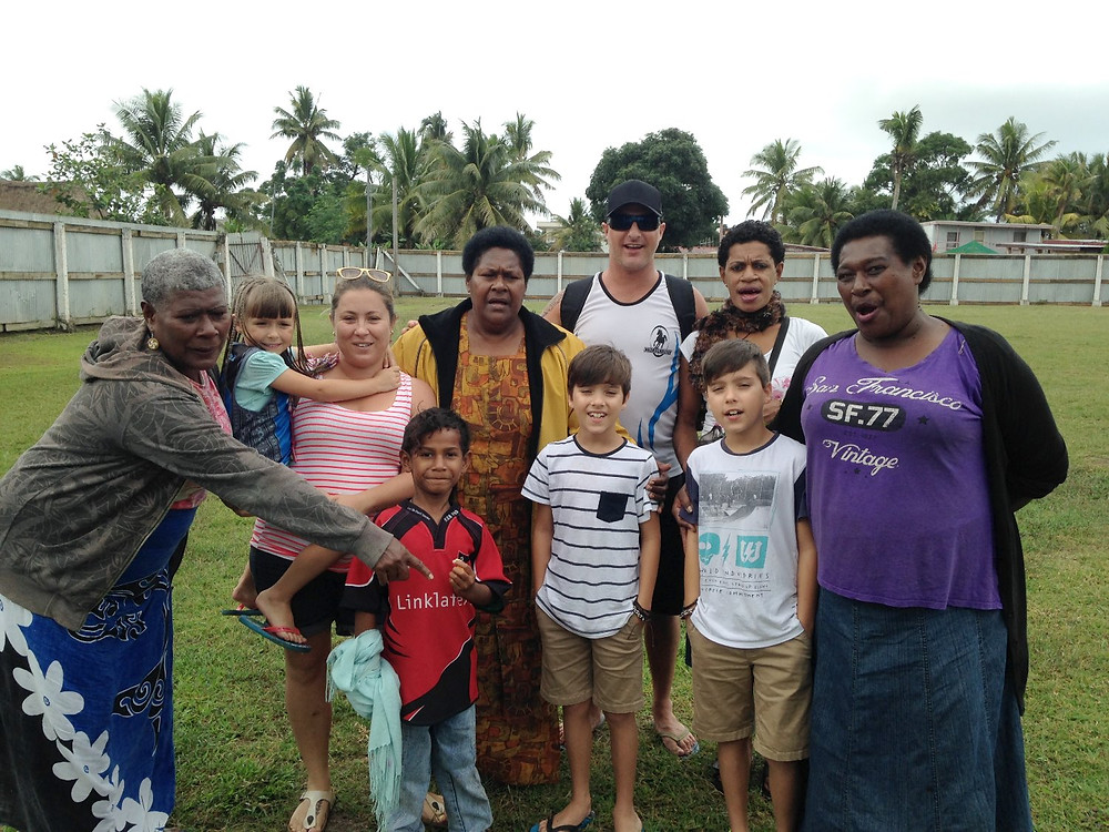 Supporters of Davetalevu Rugby team -  meandfiji