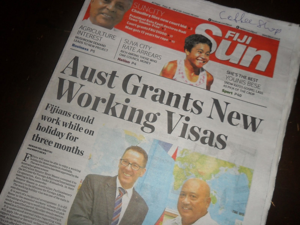 Newspaper in Fiji- fiji travel blog fiji expat fiji holiday me and fiji