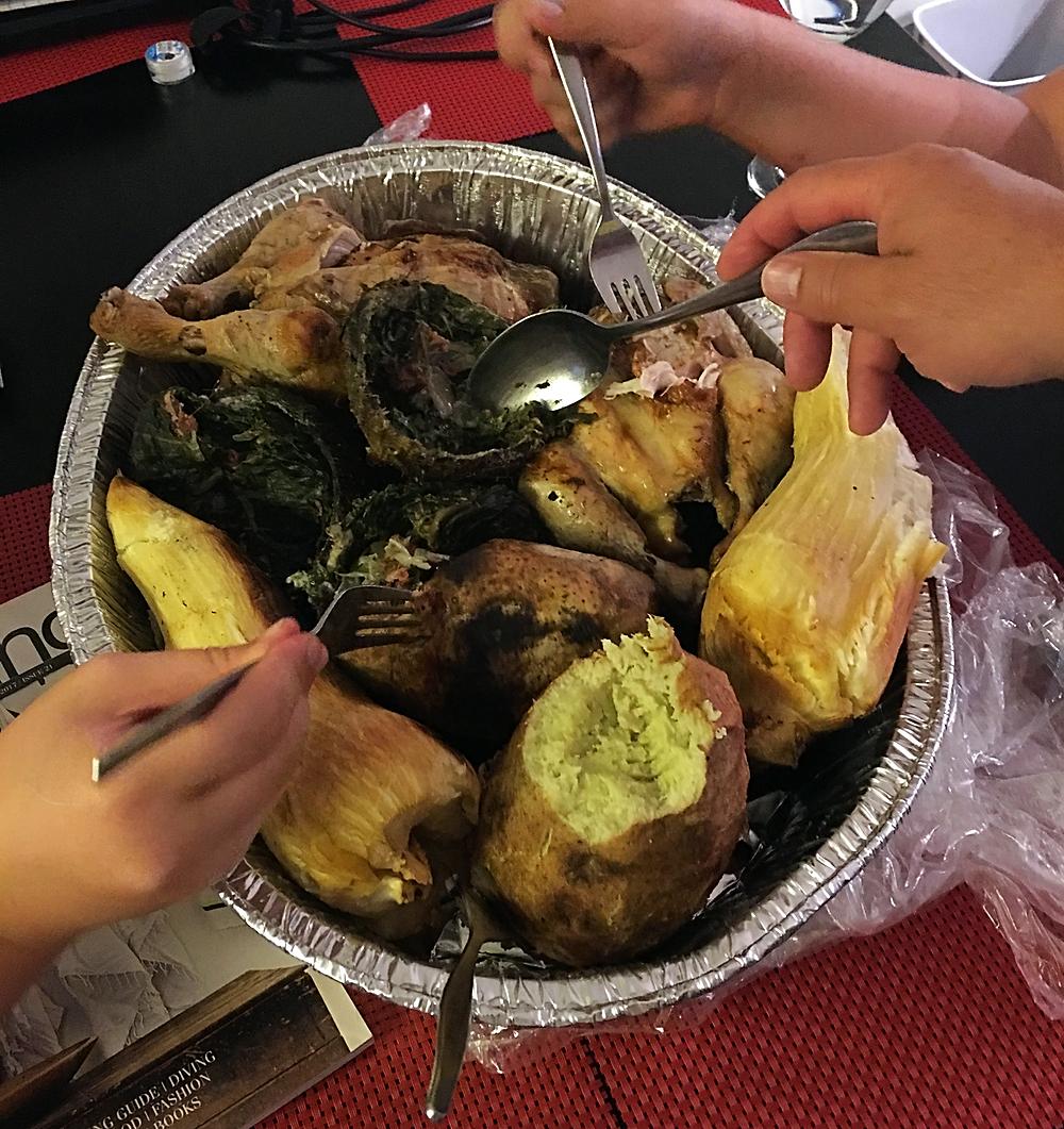 me and fiji blog, travel blog, fiji blog, lovo meal fiji, lovo chicken, meandfiji