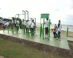 public exercise area in Suva, Fiji