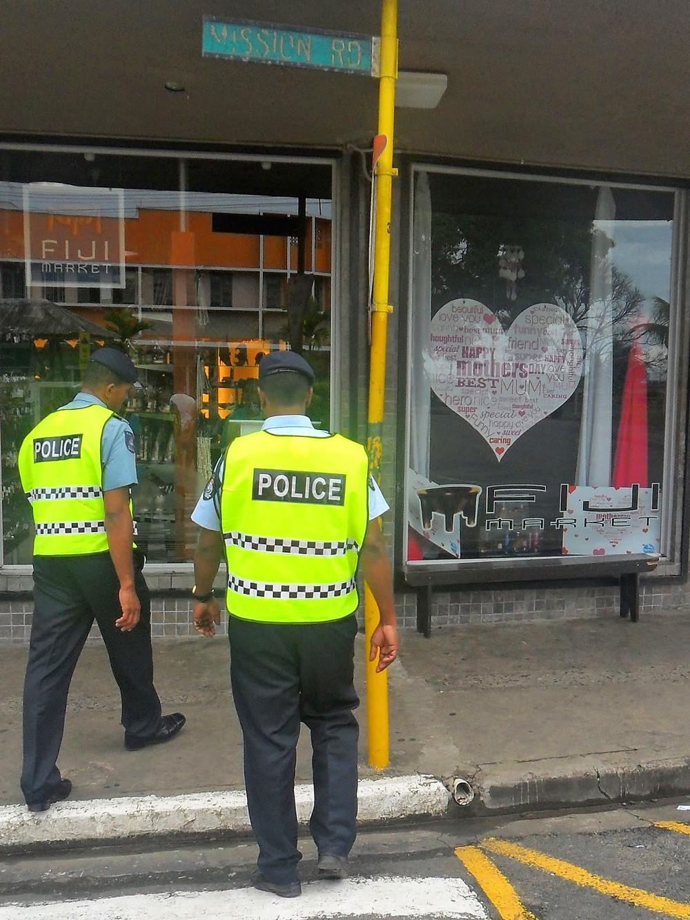Police in Sigatoka Fiji - meandfiji, expatlivinginfiji, fijexpat, safetyinfiji