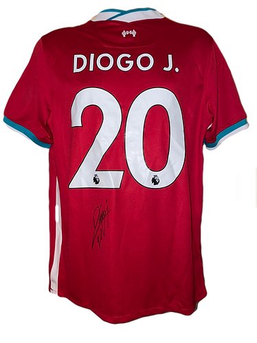 DIOGO JOTA SIGNED LIVERPOOL FC 2020/21 HOME SHIRT JOTA 20