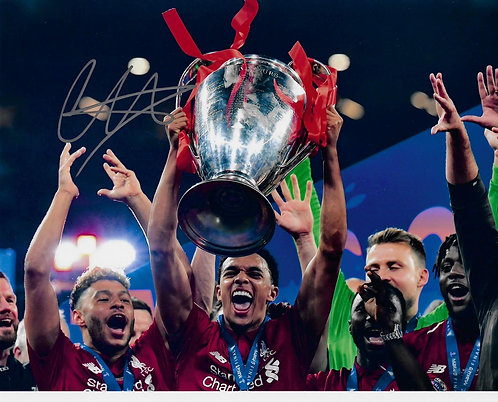 TRENT ALEXANDER ARNOLD SIGNED 2019 CHAMPIONS LEAGUE FINAL 14X11 PHOTO