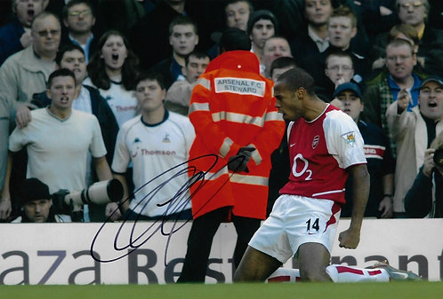 THIERRY HENRY SIGNED ARSENAL 12X8 PHOTO