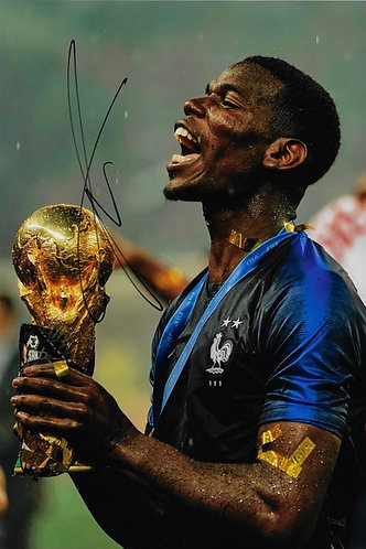 PAUL POGBA SIGNED 12X8 FRANCE WORLD CUP WINNERS PHOTOGRAPH