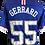 Thumbnail: STEVEN GERRARD SIGNED RANGERS CHAMPIONS 55 GERRARD 55 SHIRT