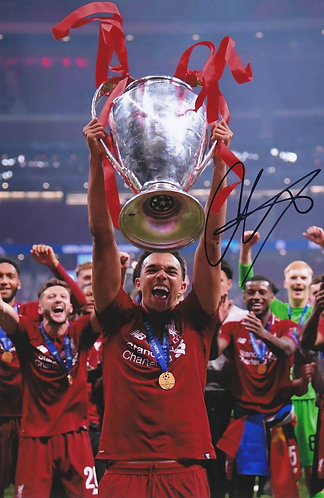 TRENT ALEXANDER ARNOLD SIGNED 12x8 LFC CHAMPIONS LEAGUE PHOTOGRAPH