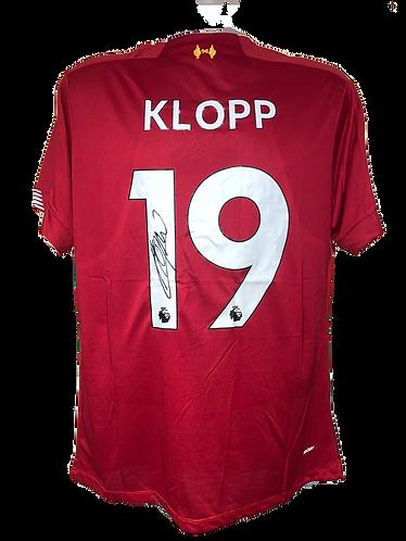 JURGEN KLOPP SIGNED KLOPP 19 LFC SHIRT