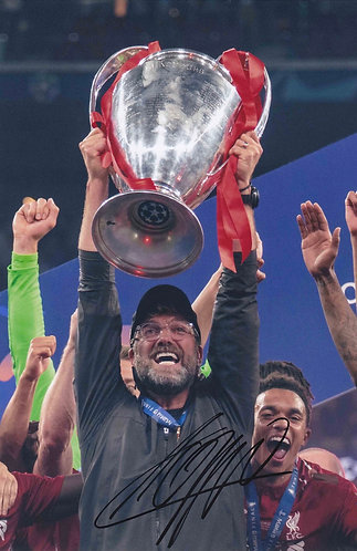 JURGEN KLOPP SIGNED 12x8 LIVERPOOL FC CHAMPIONS LEAGUE PHOTOGRAPH