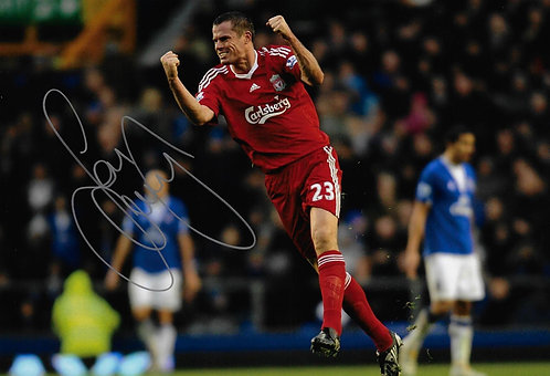 JAMIE CARRAGHER SIGNED 12x8 LIVERPOOL FC PHOTOGRAPH