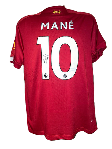SADIO MANE SIGNED 2019/20 LIVERPOOL FC HOME SHIRT