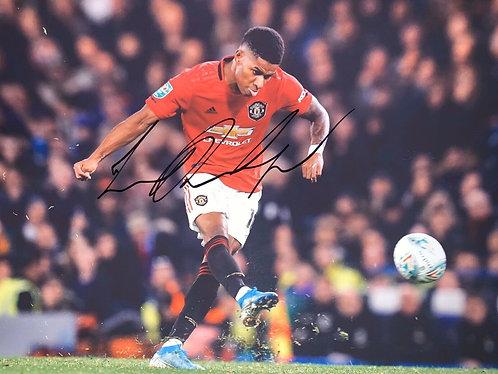 Marcus Rashford signed 12x8 Manchester Utd Photograph
