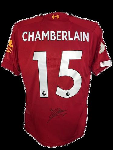 ALEX OXLADE CHAMBERLAIN SIGNED LFC 2019/20 CHAMPIONS PRINT HOME SHIRT