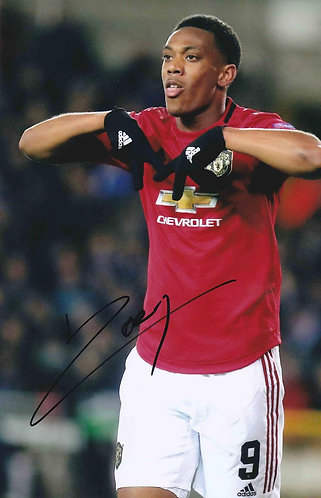 ANTHONY MARTIAL SIGNED MANCHESTER UNITED 12X8 PHOTOGRAPH