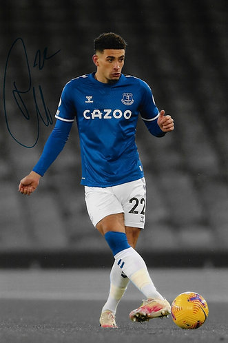 BEN GODFREY SIGNED 12x8 EVERTON FC PHOTOGRAPH