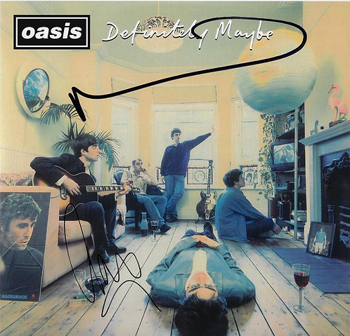 LIAM GALLAGHER & NOEL GALLAGHER SIGNED DEFINITELY MAYBE OASIS VINYL