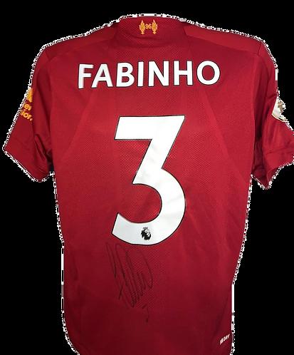 FABINHO SIGNED LFC 2019/20 CHAMPIONS PRINT HOME SHIRT