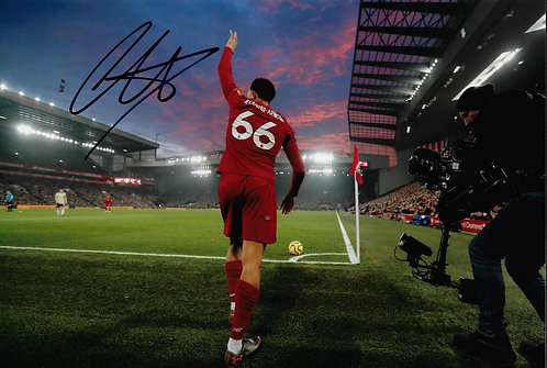 TRENT ALEXANDER ARNOLD SIGNED LFC 12x8 PHOTO
