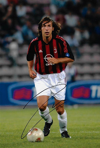 ANDREA PIRLO SIGNED AC MILAN 12x8 PHOTOGRAPH
